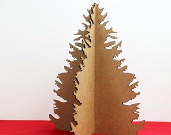 Recycled Cardboard Christmas Tree - Holiday Decor - Christmas Tree Alternative - Mini Table Top Tree - Cardboard Christmas Decoration - PD3