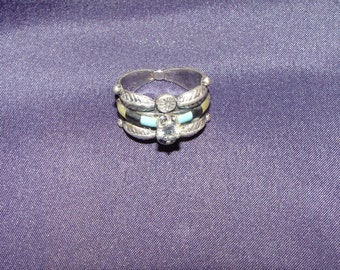 native american sterling silver wedding ring - Native American Wedding Rings