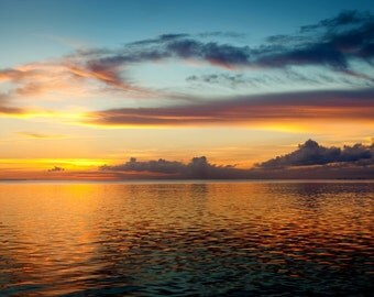 Sunrise on the Water in Florida - 24x36 Canvas Gallery Wrap