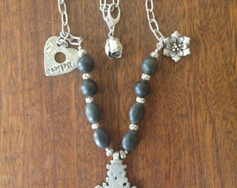 Onyx and Grace Necklace