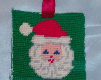 Needlepoint Santa ornament