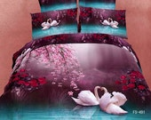 Bedding  set 3d bed sheet wedding luxury Quilt/Duvet cover Bedspread Queen King bedclothes cotton