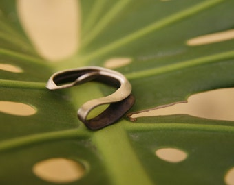 Plain  Adjustable ring in oxidized Sterling Silver- Handmade Jewelry Unique Gift for  Her