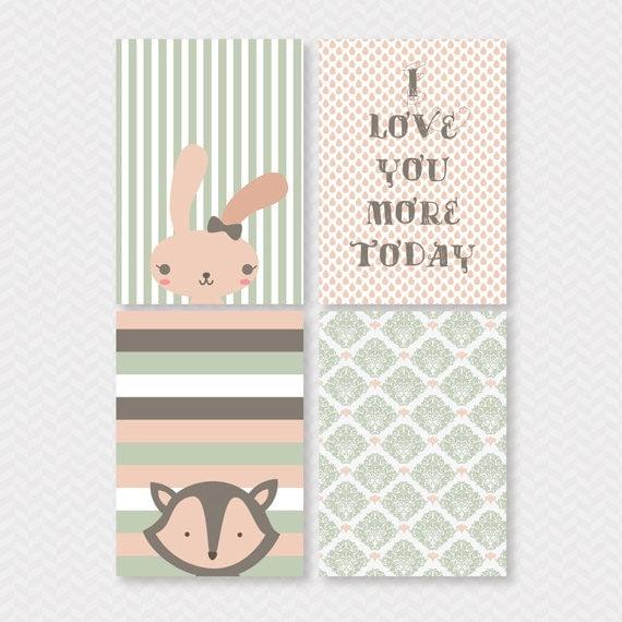 Cute Baby Girl Nursery Ideas: Baby Girl Wall Art 8x10 Printable Art Baby Shower Nursery