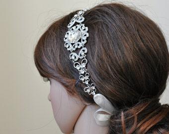 Bridal Headband, Vintage Headpiece, MAKAYLA, Wedding headband, bridal headpiece