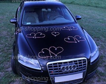 Wedding Car Rattan Heart Pink DEK1028