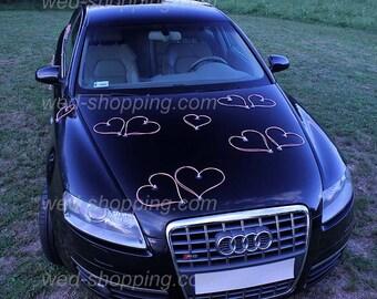 Wedding Car Rattan Heart Pink DEK1028