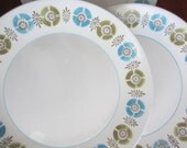 Mikasa Telstar dishes 1960s atomic 4 dinner plate set - AishesChayilVintage