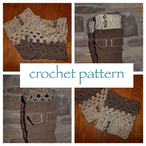 Reversible Button Boot Cuff Pattern Crochet by MadeWithATwist