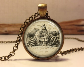 Alice in wonderland Jewelry. Alice Necklace .Alice in wonder land art pendant jewelry(alice #10)