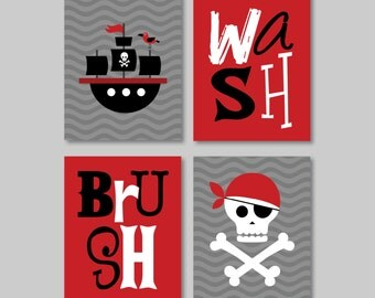 Kid Bathroom Art   Child Bathroom Art   Pirate Bathroom Art   Pirate  Bathroom Decor