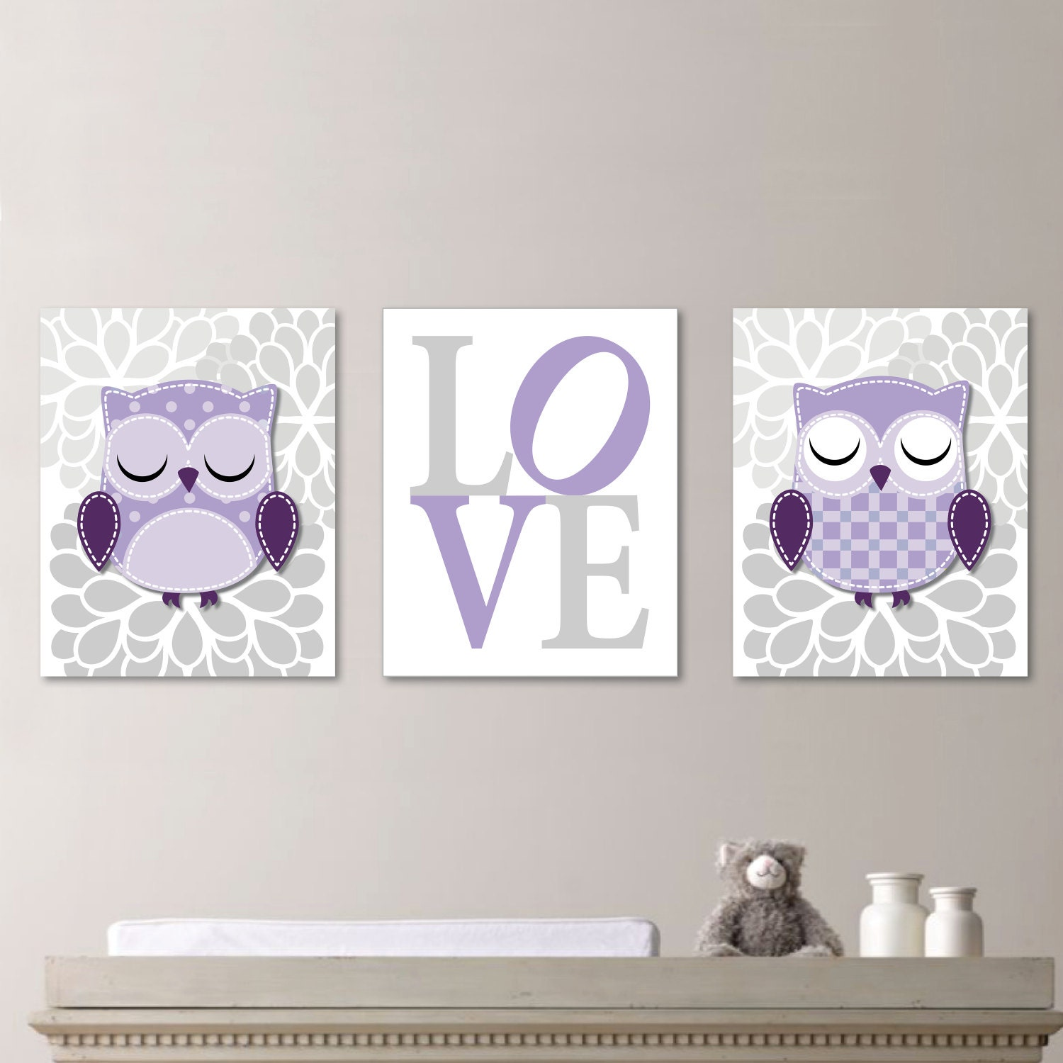 Baby girl nursery art prints owl nursery art decor wall art - Girl owl decor ...