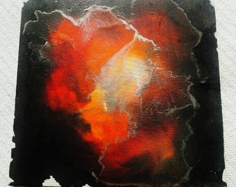 Melted Crayon art Thunderstorm one