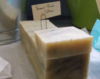 Handmade Lemon - Basil Citrus Soap Bar