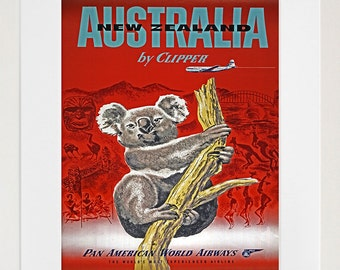 Australia Art Travel Poster Tourism Print (TR17)