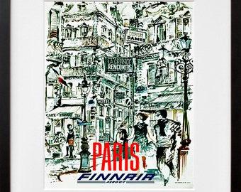 Paris Travel Poster France Art Print French Vintage Home Decor (ZT217)