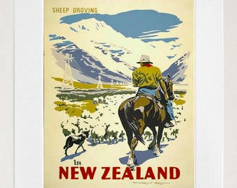 New Zealand Art Poster Print Home Decor (XR163)