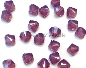 Cyclamen Opal (398) Swarovski Elements 5328 / 5301 3mm Crystal Xilion Bicone Beads ** FREE Shipping