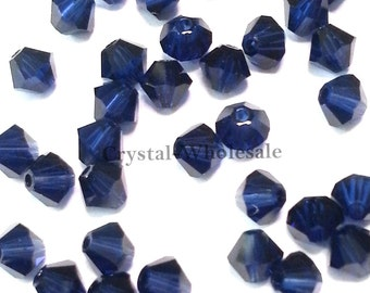 Dark Indigo (288) Swarovski Elements 5328 / 5301 3mm Crystal Xilion Bicone Beads ** FREE Shipping