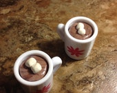 """American Girl Hot Chocolate with marshmallows fits into mugs for AG 18"""" doll drinks"""