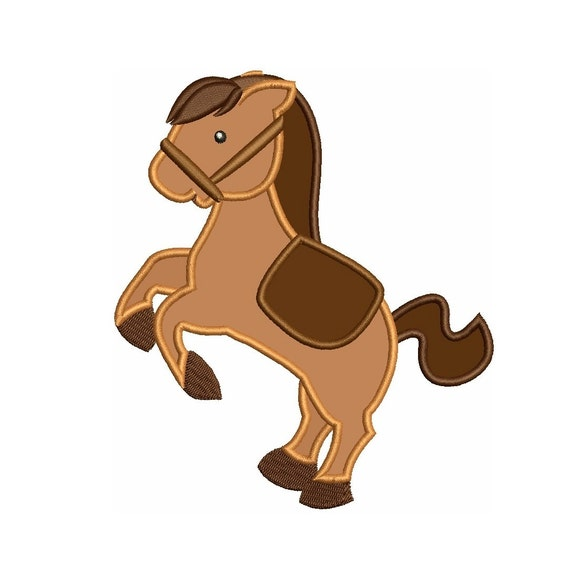 Little pony applique machine embroidery digitized pattern