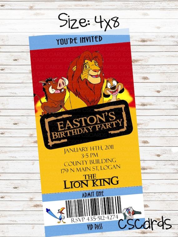items similar to lion movie ticket birthday party