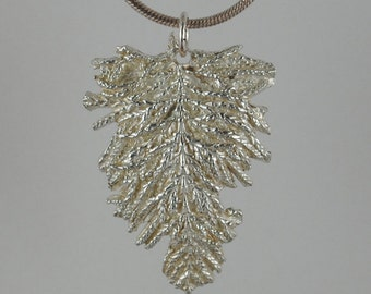 Fine Silver Pine Needle Pendant. Handcrafted and One of a Kind.