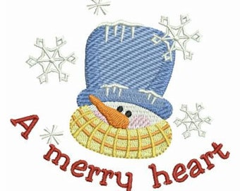 Winter Snowman Let It Snow Holiday Machine Embroidery Design Instant Download 4x4 hoop