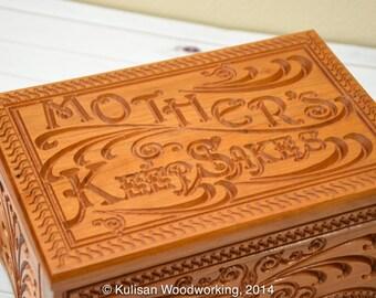 Custom Carved Mothers Keepsake Box