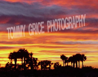 Pensacola Beach sunset over Villa Sabine