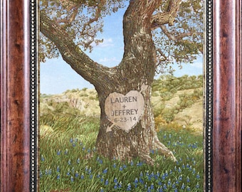Personalized Tree Print on Canvas:  Add any two names and a date.  Great for weddings and anniversaries.