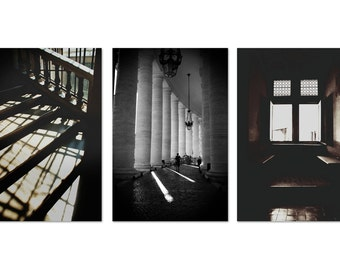 Set of 3 Rome travel photographs, fine art photo print collection, travel, rome, italy
