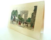 Jules Leray Arc de Triomphe Holiday Greeting Card