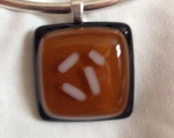 Fused glass pendant