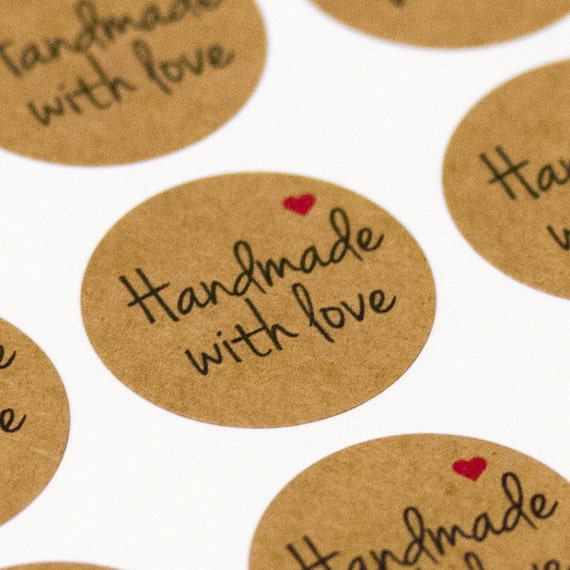 Handmade with love stickers, etsy packaging, etsy branding ...