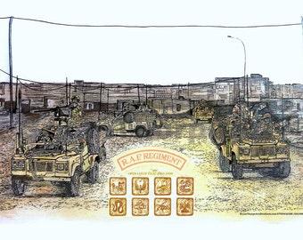 RAF REGT Op Telic Basra