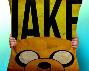 Adventure Time Jake The Dog Face - Cushion / Pillow Cover / Panel / Fabric