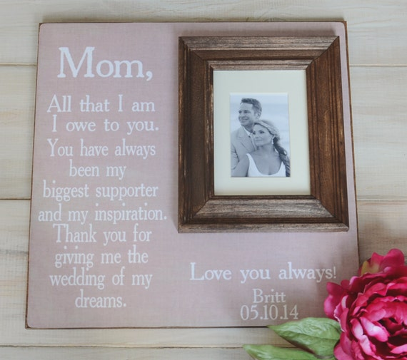Parents Wedding Picture Frame for Parents Thank You Gift Wedding Gift ...