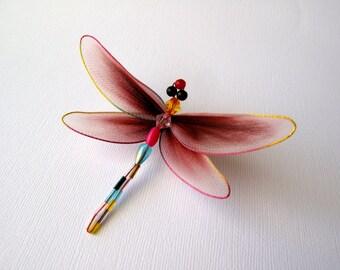 Brown/Beige Dragonfly Brooch