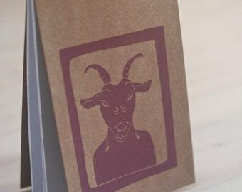 Goat notebook, notebook, notepad, Notizbuch