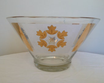 Mid-Century Glass Serving Bowl