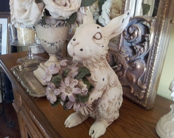 """Shabby Chic /Cottage Style Bunny.......9"""" tall"""