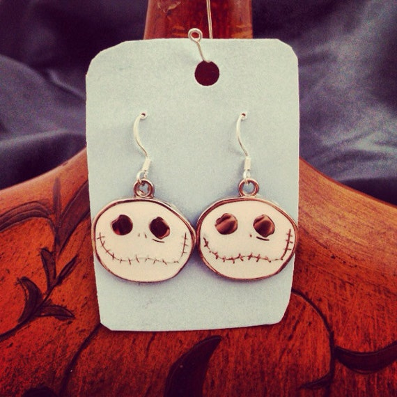 Metal nightmare before Christmas earrings