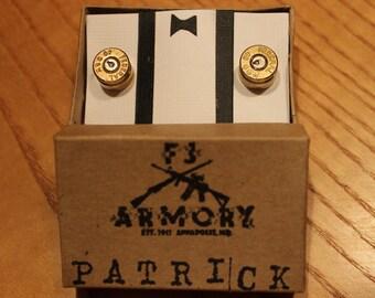 40 S&W Bullet Cufflinks