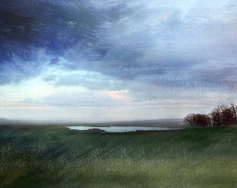 Moody skies over Mendip and Chew Valley - Signed limited edition print