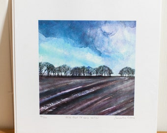 Wish that I'd worn wellies  - Limited edition signed print