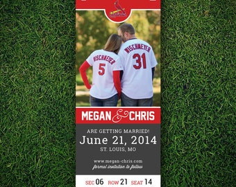 Printable Save the Date - Sports Ticket