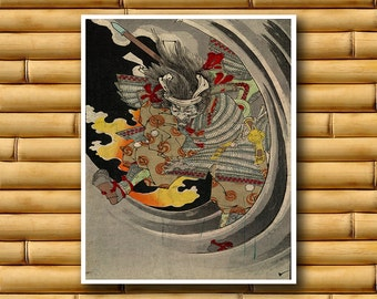 Asian Art Wall Decor Japanese Samurai Print Decor Retro Poster Japan (J61)