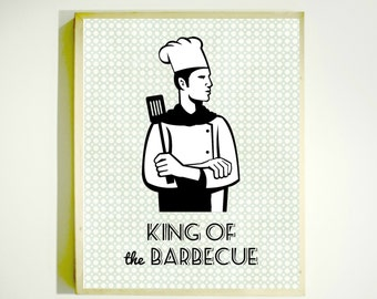 KING of THE BARBECUE Downloadable Image / Kitchen Art / Gift for Dad / Fathers Day Gift / Gifts for Men
