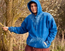 Hand Painted Jack Frost Hoodie, Rise of the Guardian Replica Cosplay and Everyday Hoodie